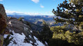 Winter view of rocky mountain in colorado Royalty Free Stock Photo