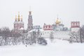 View of Novodevichy convent. Royalty Free Stock Photo