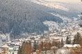 Winter Village Landscape In Ro...
