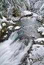 Winter at Deception Falls Park, Washington State Royalty Free Stock Photo
