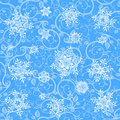 Winter wallpaper & snowflakes Stock Photography