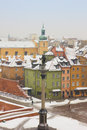 Winter in  Warsaw, Poland Stock Photo