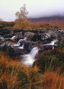 Winter waterfalls, Rannoch moor, Scotland Stock Photography