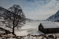 Winter white snowy scenes around snowdonia national park north wales uk Stock Photography