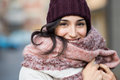 Winter woman outdoor Royalty Free Stock Photo
