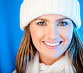 Winter woman portrait Royalty Free Stock Photos