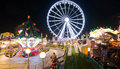 Winter wonderland in london december amusement park organized before christmas Stock Photography