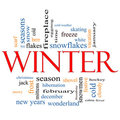 Winter Word Cloud Concept Royalty Free Stock Photo