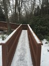 Winters bridge Royalty Free Stock Photo