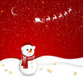 Winterscene christmas card illustration of a decorative background Stock Photography