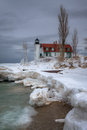 Wintery Point Betsie Stock Photography