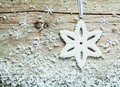 Wintry Christmas snowflake background Royalty Free Stock Photo