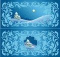Wintry design Royalty Free Stock Image