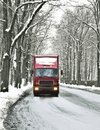Wintry road Royalty Free Stock Photo