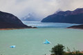 Wintry summer day colossal perito moreno glacier in lake argentino los glaciares national park in argentina Royalty Free Stock Images