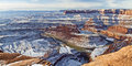 Dead Horse Point Winter Overlook Royalty Free Stock Photo