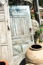 Wioski drzwi Zdjęcie Royalty Free