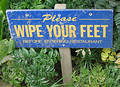 Wipe your feet sign Stock Photo