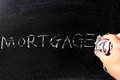Wiping off mortgage Stock Image