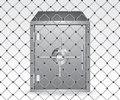 Wire and bank safe Royalty Free Stock Image