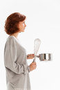 Wire beater woman with a Royalty Free Stock Image
