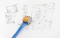A wire connector located Royalty Free Stock Photo