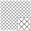 Wire fence with detail isolated on white Stock Images