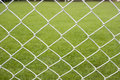 Wire Fence With Green Background Stock Photography
