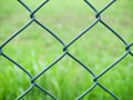 Wire fence green detail Stock Images