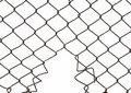 wire fence isolated Royalty Free Stock Photo
