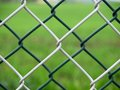 Wire fence two color double detail Royalty Free Stock Photos