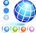Wire Frame Globe Collection Royalty Free Stock Photo