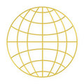 Wire frame globe - Gold Royalty Free Stock Photo