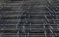 Wire mesh for concrete reinforcement placed the overlap Royalty Free Stock Photography