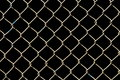 Wire netting on black background Royalty Free Stock Photos