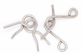 Wire puzzle puzzle ring the on a white background Royalty Free Stock Photo