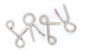 Wire puzzle puzzle ring the on a white background Royalty Free Stock Photography