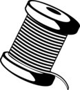 Wire or thread spool vector illustration Royalty Free Stock Image