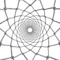 Wire web tube abstract ornament background Royalty Free Stock Image