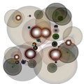 Wired circles a lot of abstract Royalty Free Stock Images