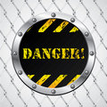 Wired fence with danger sign Stock Photography