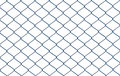 Wired Fence Isolated On White ...