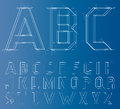 Wireframe Alphabet Font. Vector