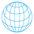 Wireframe globe Royalty Free Stock Image