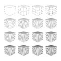 Wireframe Mesh Cube.