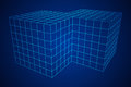 Wireframe Mesh Doubled Box