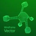 Wireframe Mesh Molecule