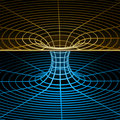 Wireframe symbol (wormhole) Stock Image