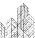 Wireframe vector buildings this is file of eps format Stock Photo