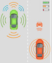 Wireless charging for electric vehicles Royalty Free Stock Photo